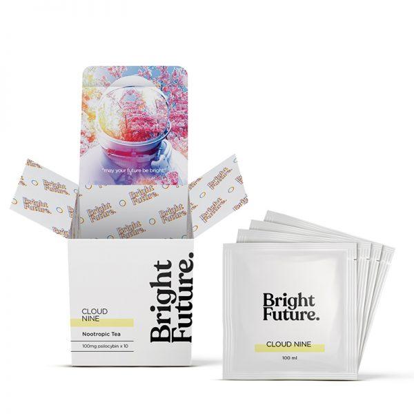 Cloud nine mushroom tea bright future box and tea bags